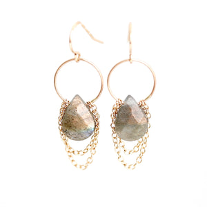 Labradorite Drape Earrings