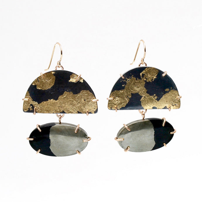 Half Dome Lunar Earrings