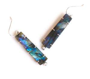 Labradorite Stick Earrings