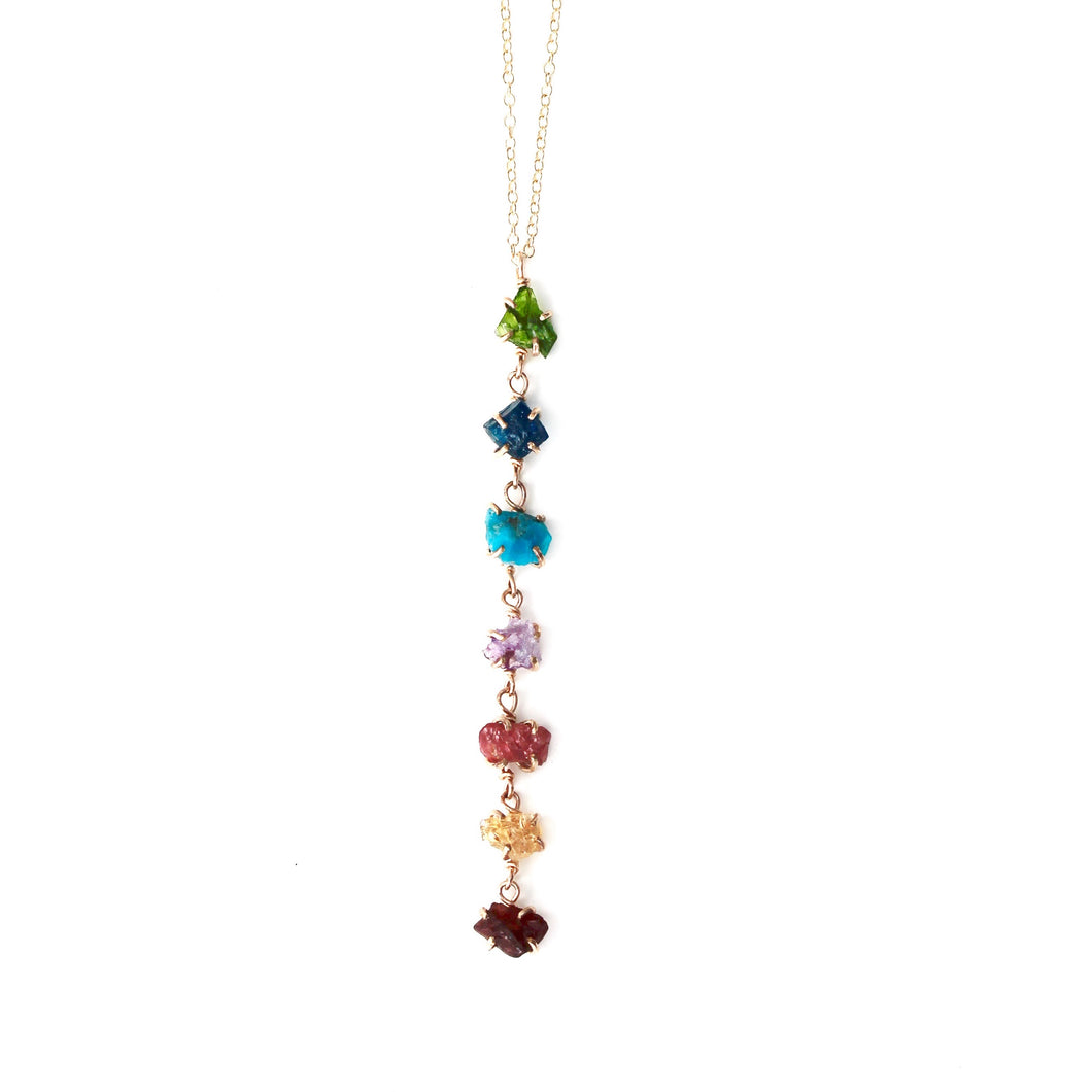 Rainbow Waterfall Necklace