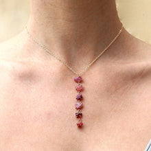 Load image into Gallery viewer, Pink Tones Waterfall Necklace