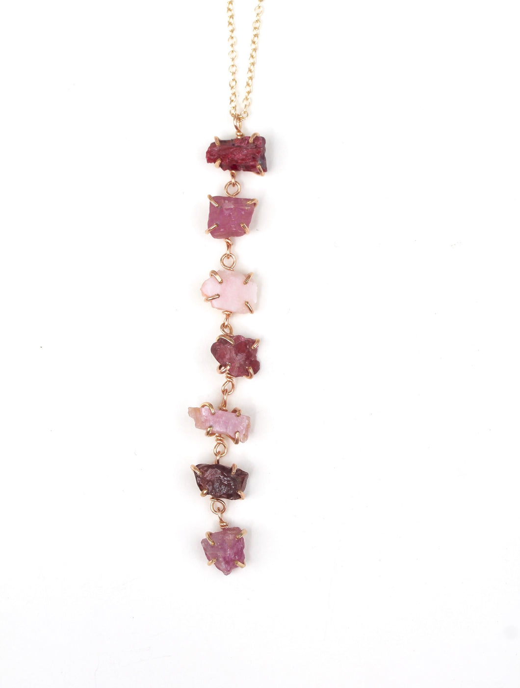 Pink Tones Waterfall Necklace
