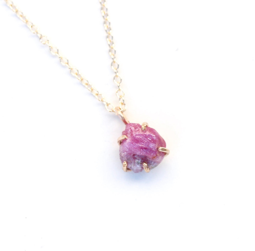 Raw Spinel Necklace