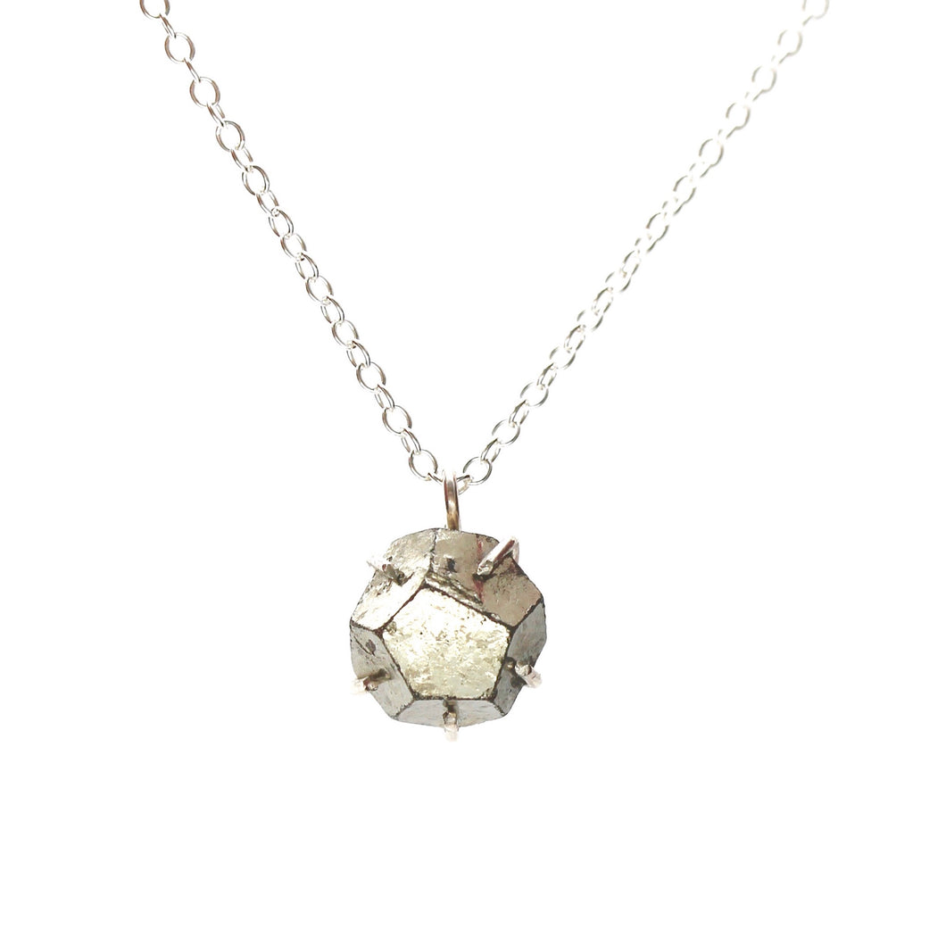 Raw Pyrite Necklace