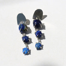 Load image into Gallery viewer, Lapis Lazuli Raindrop Earrings
