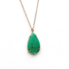 Load image into Gallery viewer, Chrysoprase Teardrop Necklace