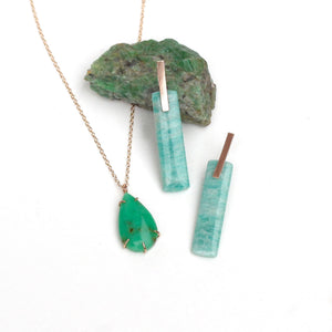 Chrysoprase Teardrop Necklace