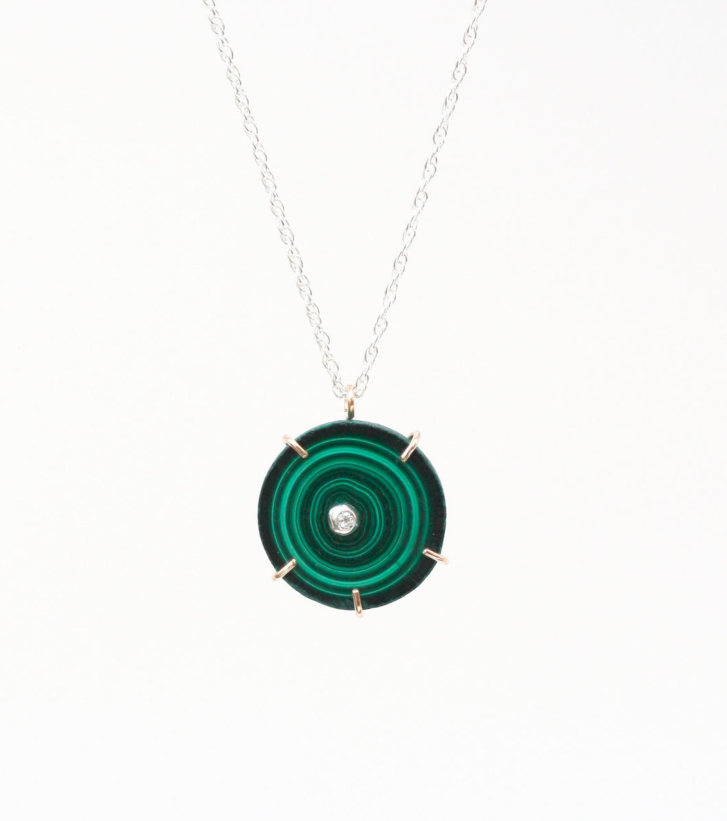 Malachite Eye Necklace