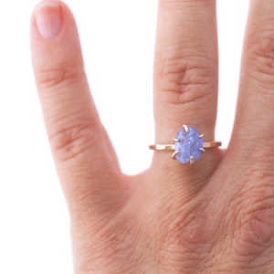 Raw Tanzanite Stacker Ring