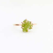Load image into Gallery viewer, Raw Peridot Stacker Ring