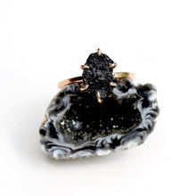 Load image into Gallery viewer, Raw Black Tourmaline Stacker Ring