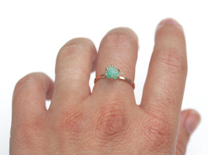 Raw Emerald Stacker Ring