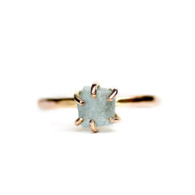 Load image into Gallery viewer, Raw Aquamarine Stacker Ring