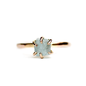 Raw Aquamarine Stacker Ring