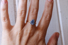 Load image into Gallery viewer, Raw Blue Sapphire Ring