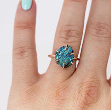Load image into Gallery viewer, Raw Peacock Pyrite Stacker Ring