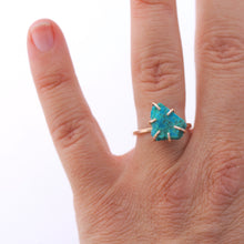 Load image into Gallery viewer, Raw Chrysocolla Stacker Ring