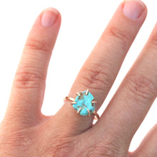 Load image into Gallery viewer, Raw Turquoise Stacker Ring