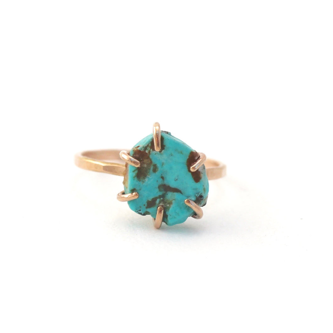 Raw Turquoise Stacker Ring
