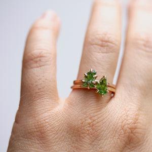 Raw Chrome Diopside Stacker Ring