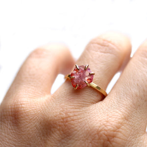Raw Spinel Stacker Ring