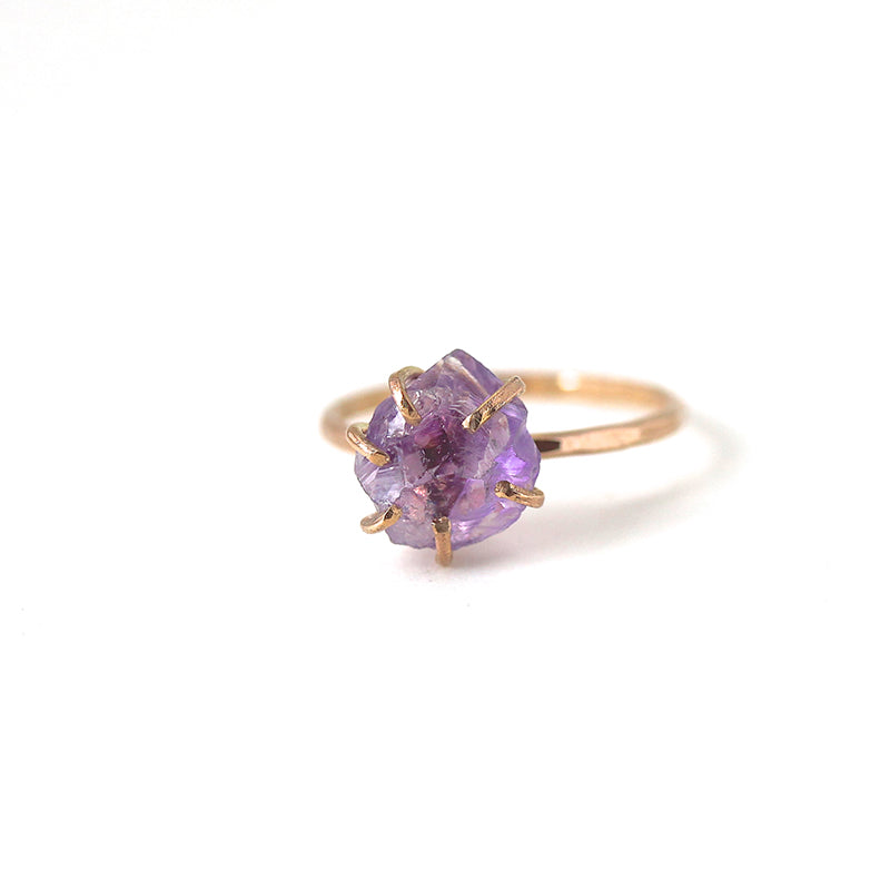 Raw Amethyst Stacker Ring