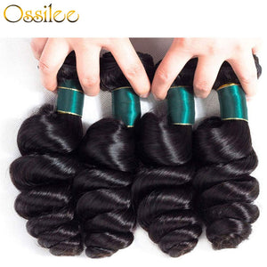 Brazilian Loose Wave 3 Bundles 9A Grade Virgin Human Hair Weave - Ossilee Hair