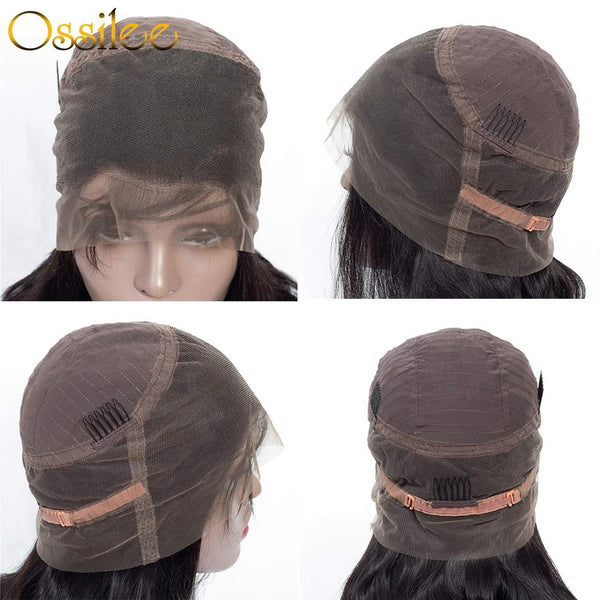 360 Lace Frontal Wig Pre Plucked With BabyHair Body Wave Human Hair Wigs - Ossilee Hair