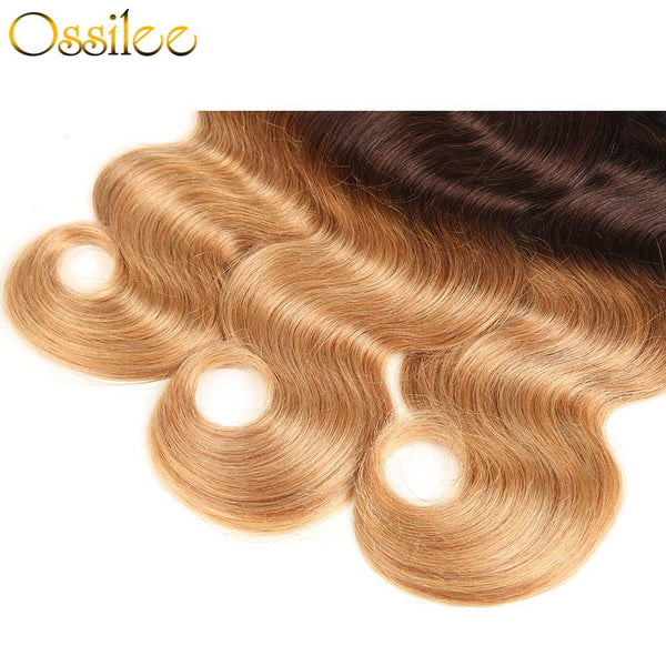 New Arrival 1B/4/27 Ombre 4 Bundles Brazilian Body Wave Human Hair Weave Bundles - Ossilee Hair