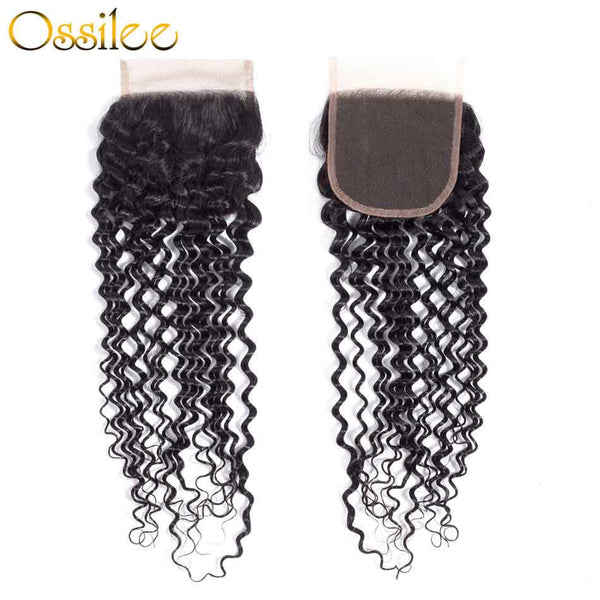 Real 9A Grade Virgin Hair Deep Wave 3Pcs Deep Wave With Lace Closure - Ossilee Hair