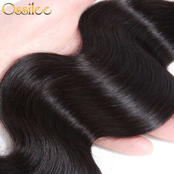 Real 9A Unprocessed Virgin Hair Body Wave With 4x4 Lace Closure - Ossilee Hair