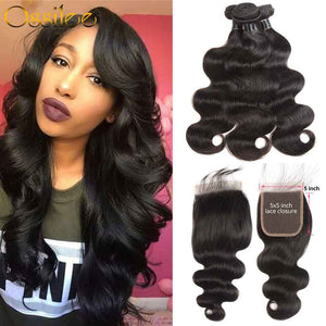 5x5 Lace Closure With Hair Bundles New Arrival Brazilian Body Wave With 5x5 Lace Closure - Ossilee Hair