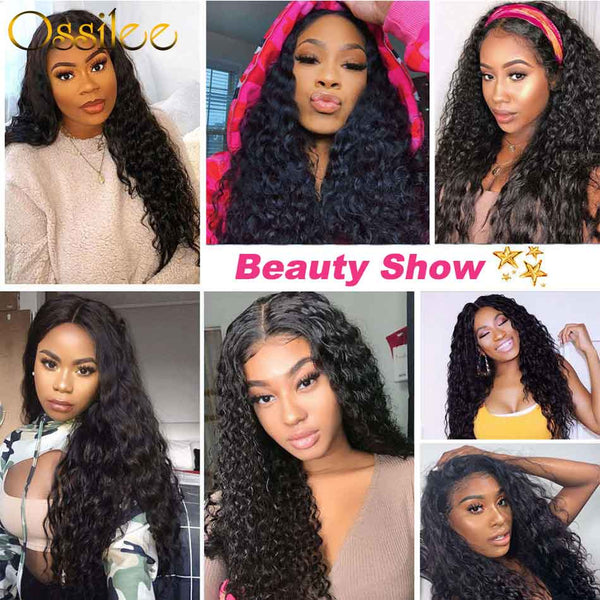 4x4 Lace Closure Wig 180% Destiny Water Wave Lace Wig 9A Grade - Ossilee Hair