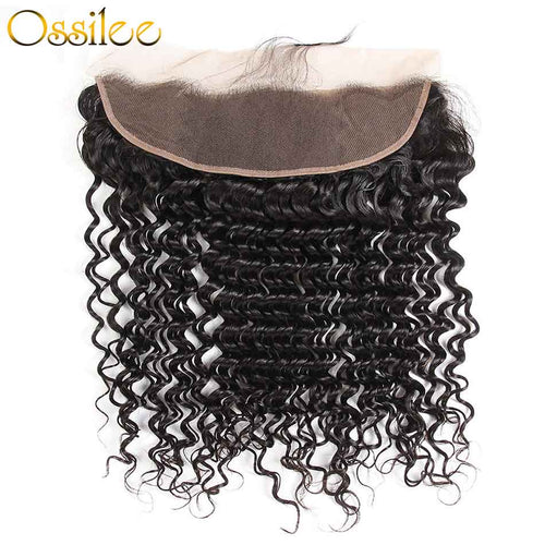 Deep Wave Pre-plucked 13x4 Lace Frontal 100% Human Hair - Ossilee Hair
