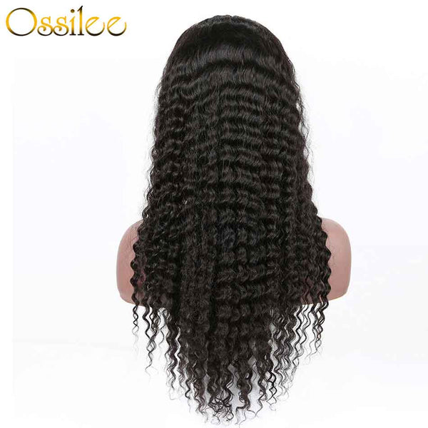 13x4 Pre-Plucked Lace Front  Wig 150% Density Deep Wave Remy Hair - Ossilee Hair