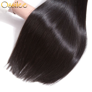 3 Bundles 9A Brazilian Straight Virgin Hair Weave No Shedding ,Can Be Dyed - Ossilee Hair