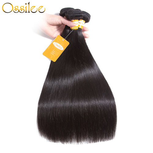 3 Bundles 9A Malaysian Straight Virgin Hair Weave No Shedding ,Can Be Dyed - Ossilee Hair