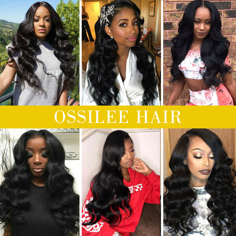 Lace Front Wig 180% Density Body Wave Remy Hair Lace Front Wig 9A Grade - Ossilee Hair