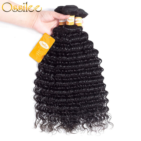 Brazilian Deep Wave 3 Bundles 9A Grade Virgin Human Hair Weave Ossilee Hair Products - Ossilee Hair