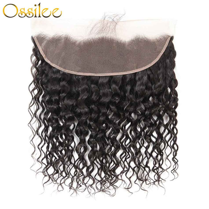 Real 9A Water Wave Virgin Hair 3Bundles With 13x4 Pre-Plucked Lace Frontal - Ossilee Hair