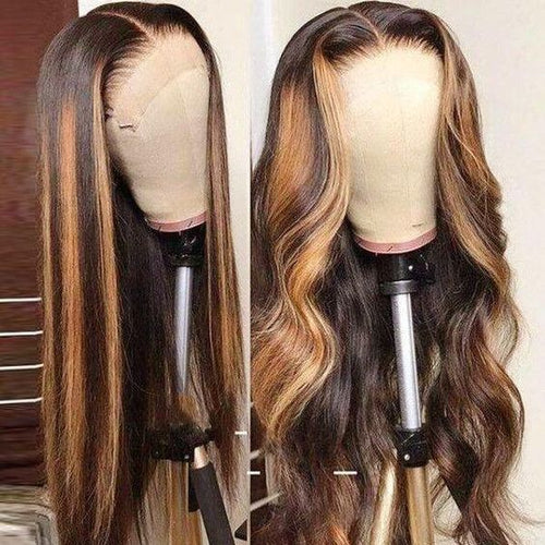 Ossilee Highlight Piano Lace Front Wig 4*4/ 13*4/13x6 Human Hair Lace Wig 180% Density - Ossilee Hair