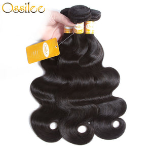 3 Bundles Softer & Thicker Peruvian Body Wave Human Hair Weave No Shedding - Ossilee Hair