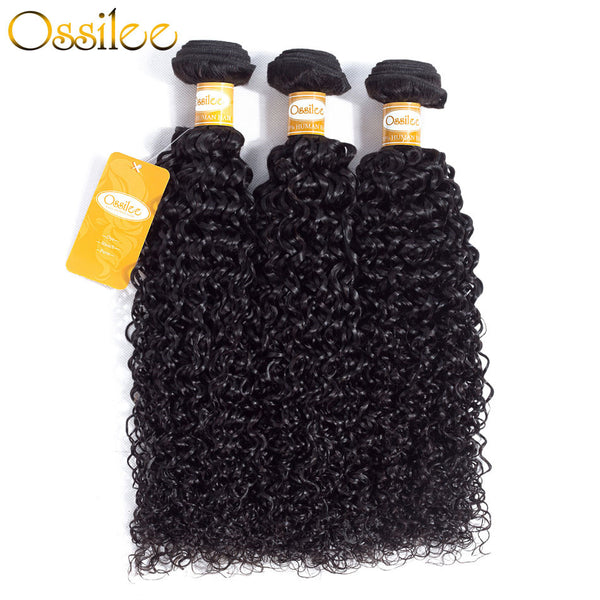 Brazilian kinky curly 3 Bundles 9A Grade Human Hair Extension Soft kinky curly - Ossilee Hair