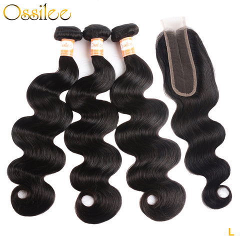 Brazilian Virgin Hair Body Wave With 2x6 Lace Closure - Ossilee Hair