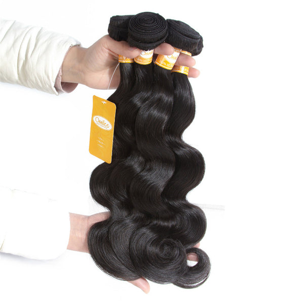 4 Bundles peruvian Body Wave Human Hair Weave No Shedding Free Shipping - Ossilee Hair