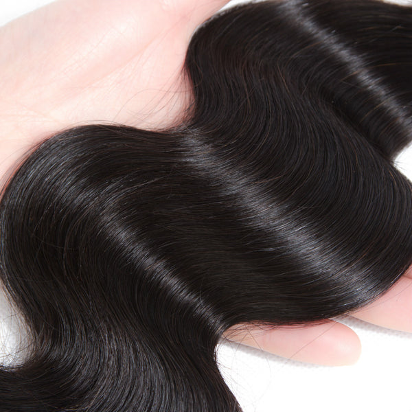 9A One Piece Human Hair Bundles Deal Brazilian Body wave Weave bundles - Ossilee Hair