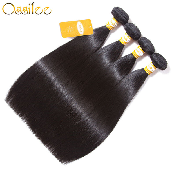 Peruvian Straight Hair With Lace Closure 5Pcs/lot 9A Peruvian Virgin Straight Hair - Ossilee Hair