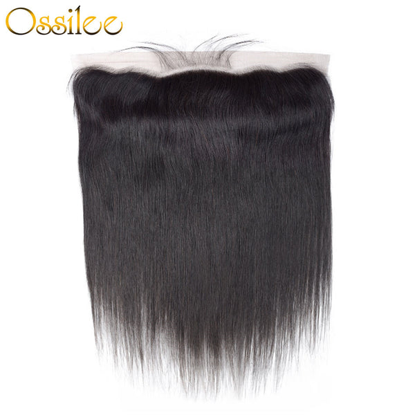 Pre-plucked 13x4 Lace Frontal Straight Human Hair 150% Density - Ossilee Hair