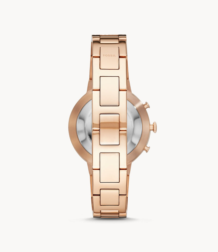Hybrid Smartwatch Virginia Rose Gold-Tone Stainless Steel WATCHES FOSSIL Q urtiden-dk.myshopify.com [variant_title]