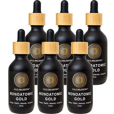 GoldEnlighten® - Monoatomic Gold Ormus (2 oz.) - 6 Pack $39/Bottle
